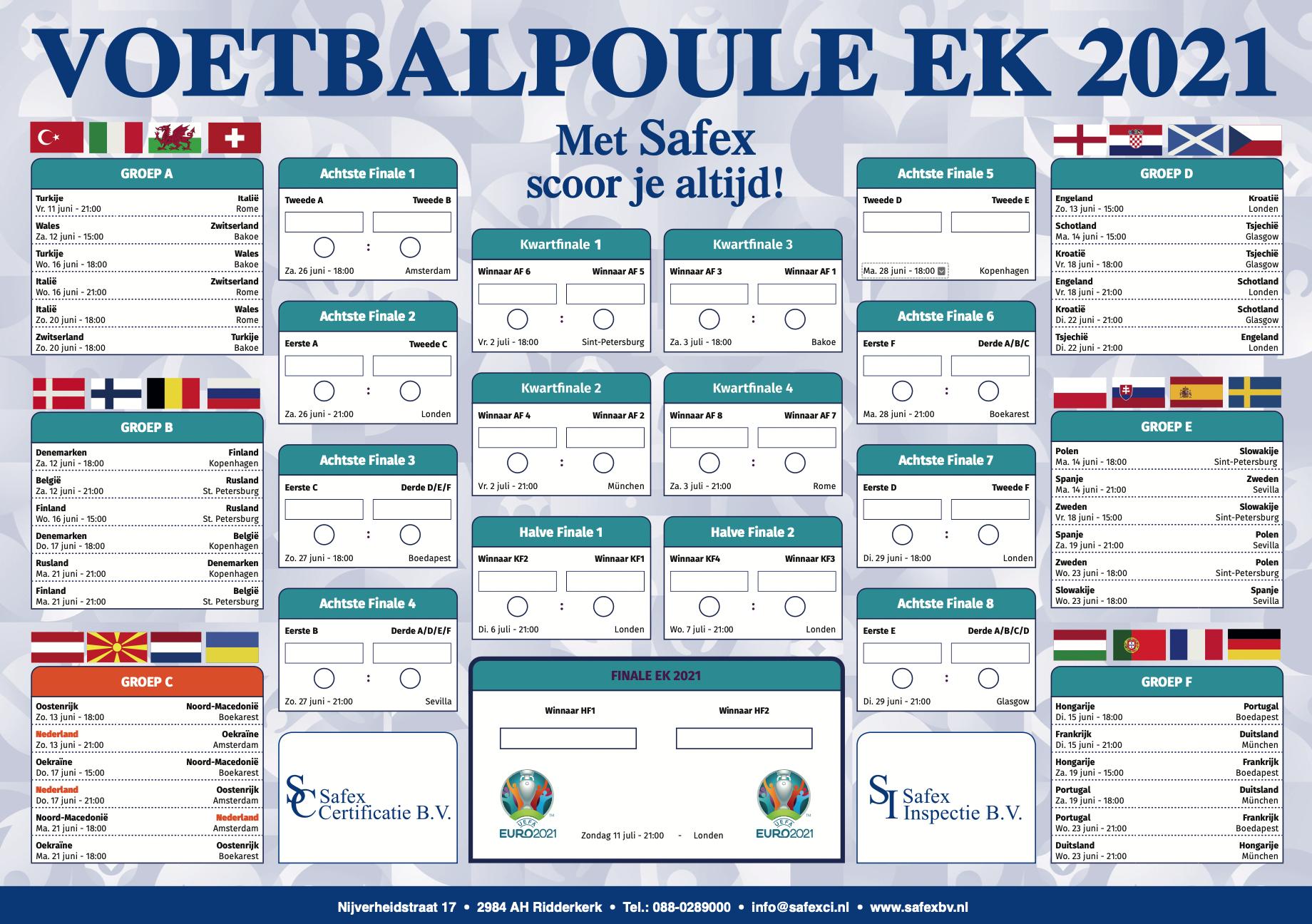 Safex EK 2021 voetbalpoule